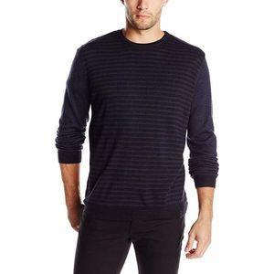 Calvin Klein Men Large Merino Acrylic Sweater Blue
